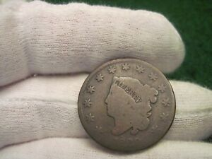 1829 LARGE CENT COIN N.9 R.4 MEDIUM LETTERS REVERSE