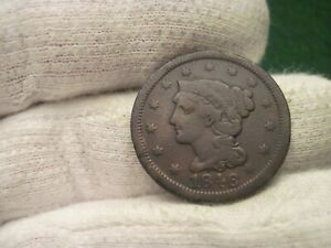 1846 LARGE CENT SMALL DATE RED BOOK VARIETY TYPE COIN