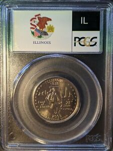 Click now to see the BUY IT NOW Price! 2003 D PCGS MS68 ILLINOIS WASHINGTON STATE QUARTER FLAG HOLDER TOP POP 17/0