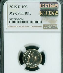 Click now to see the BUY IT NOW Price! 2019 D ROOSEVELT DIME NGC MS69 FT DPL MAC SOLO FINEST GRADED OUT OF 425 000 NGC.