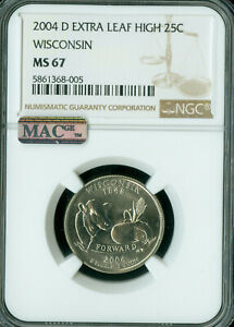 Click now to see the BUY IT NOW Price! 2004 D WISCONSIN STATE QUARTER NGC MS 67 PQ EXTRA LEAF HIGH MAC SPOTLESS .