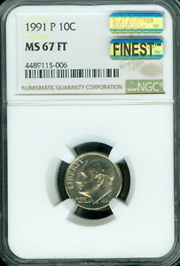 Click now to see the BUY IT NOW Price! 1991 P ROOSEVELT DIME NGC MS67 FT PQ MAC FINEST MAC SPOTLESS POP 3 .