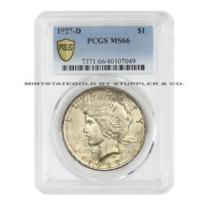 Click now to see the BUY IT NOW Price! 1927 D $1 SILVER PEACE PCGS MS66 GEM GRADE DENVER MINT COIN DOLLAR