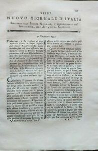 1793  MAGAZINE SULL'USE OF RHUBARB OFFICINALIS; SKINS OF MUROM IN RUSSIA