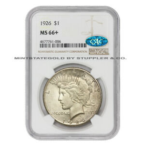 Click now to see the BUY IT NOW Price! 1926 $1 SILVER PEACE NGC MS66  CAC CERTIFIED PHILADELPHIA DOLLAR COIN PLUS GRADE