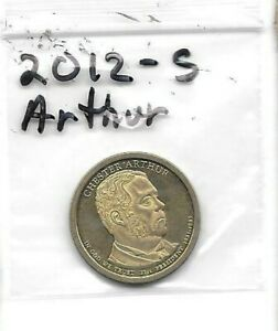2012 S PRESIDENT ARTHUR DOLLAR PROOF