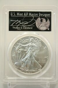 2020  P  SILVER EAGLE PCGS MS70 EMERGENCY FIRST DAY ISSUE THOMAS CLEVELAND 295