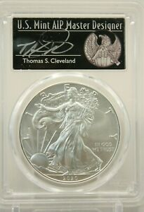 2020  P  SILVER EAGLE PCGS MS70 EMERGENCY FIRST DAY ISSUE THOMAS CLEVELAND 297