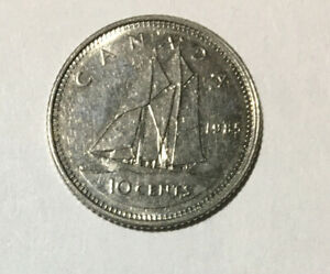 1985  10 CENT  CANADIAN DIME