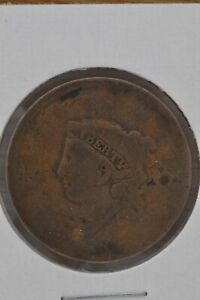 183 ? CORONET HEAD COPPER LARGE CENT ROTATED REVERSE  ERROR VARIETY COIN