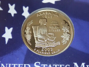 2003 ALABAMA PROOF CLAD STATE QUARTER   OUT OF THE PROOF SET PERFECT