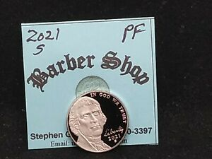 2021S PROOF JEFFERSON NICKEL. NICE COIN FOR THIS YEAR'S COINS SET