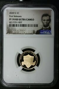 2020 S 1C LINCOLN SHIELD CENT NGC PR70 RD RED FIRST RELEASES