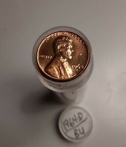 1964 D LINCOLN CENT   BU ROLL  50 UNCIRCULATED PENNIES