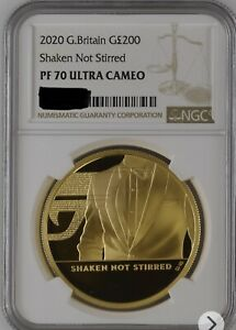 Click now to see the BUY IT NOW Price! 2020 200 JAMES BOND 007 SHAKEN NOT STIRRED GOLD PROOF 2OZ COIN NGC PF70 ULTRA C