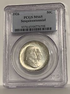 Click now to see the BUY IT NOW Price! 1926 SESQUICENTENNIAL HALF DOLLAR 50C   PCGS MS65    IN MS65