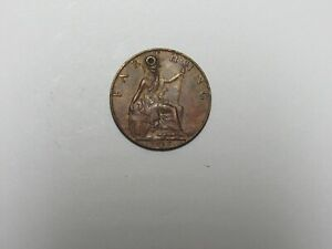 OLD GREAT BRITAIN COIN   1912 FARTHING   CIRCULATED HOLED