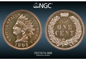 Click now to see the BUY IT NOW Price! NGC PF 66 RB 1905 INDIAN HEAD CENT DEEPLY MIRRORED PROOF LOOKS FULL RED