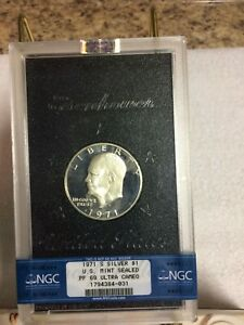 Click now to see the BUY IT NOW Price! EISENHOWER SILVER DOLLARS   GRADED BY NGC  1971 1974 MS & PF