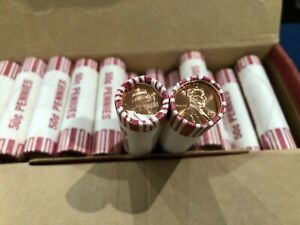 2009 D LINCOLN PRESIDENCY CENTS LOT OF 23 OBW ORIGINAL BANK WRAPPED ROLLS