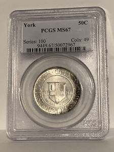 Click now to see the BUY IT NOW Price! PCGS MS67 1936 YORK SILVER COMMEMORATIVE HALF DOLLAR COIN