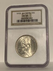 Click now to see the BUY IT NOW Price! 1918 ABRAHAM LINCOLN ILLINOIS CENTENNIAL COIN MS 64 NGC