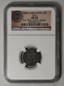 Click now to see the BUY IT NOW Price! 1828 CAPPED BUST DIME. JR 2. LG DATE. NGC AU58