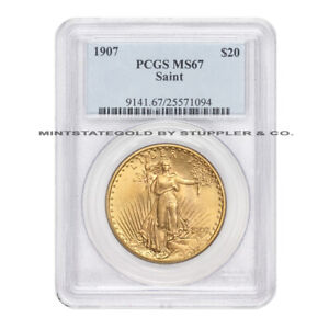 Click now to see the BUY IT NOW Price! 1907 $20 GOLD SAINT GAUDENS PCGS MS67 GEM GRADED DOUBLE EAGLE  COIN