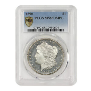 Click now to see the BUY IT NOW Price! 1890 $1 MORGAN PCGS MS65DMPL DEEP MIRROR PROOF LIKE GEM SILVER DOLLAR COIN