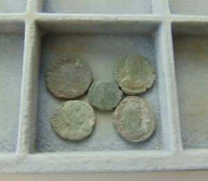 5 PIECES A LITTLE TO CLEAN ROMAN COINS LOT