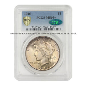 Click now to see the BUY IT NOW Price! 1926 $1 SILVER PEACE PCGS MS66  CAC CERTIFIED PLUS GEM GRADE COIN PHILADELPHIA