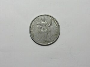 OLD FRENCH POLYNESIA COIN   1965 5 FRANCS   CIRCULATED