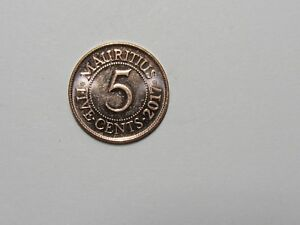 MAURITIUS COIN   2017 5 CENTS   BRILLIANT UNCIRCULATED