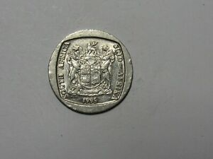 SOUTH AFRICA COIN   1995 5 RAND   CIRCULATED