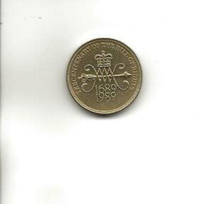 1989 TERCENTENARY OF THE BILL OF RIGHTS 2 COIN   CIRCULATED