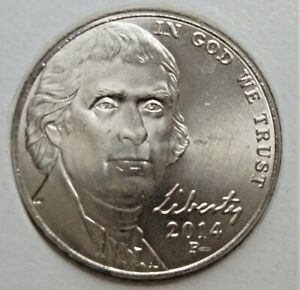 2014 P JEFFERSON NICKEL    BU COIN PULLED FROM OBWROLL