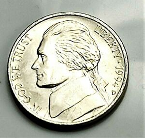 1994 D JEFFERSON NICKEL   BU COIN PULLED FROM AN OBW ROLL