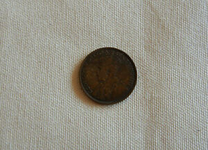1917 NEWFOUNDLAND CANADA 1 ONE CENT LARGE PENNY CIRCULATED GEORGE V COIN