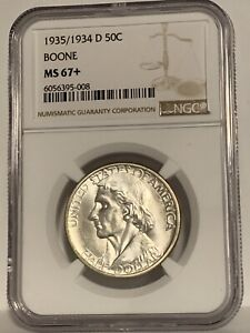 Click now to see the BUY IT NOW Price! 1935/34 D BOONE COMMEMORATIVE HALF DOLLAR NGC MS67