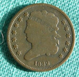 1832 U.S. HALF CENT IN GOOD CONDITION