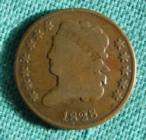 1828 U.S. HALF CENT 12 STAR TYPE IN GOOD CONDITION