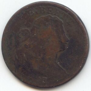 1803 DRAPED BUST LARGE CENT SMOOTH BROWN AG