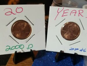 20YEARS FROM 2000  2020 LINCOLN CENT SMALL CENT VERITIES