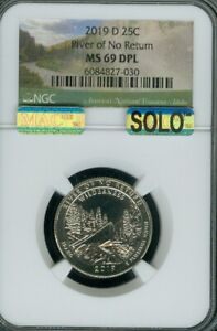 Click now to see the BUY IT NOW Price! 2019 D RIVER NO RETURN QUARTER NGC MS69 DPL SOLO FINEST OUT OF 520 000 GRADED..