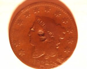 1832 BRAIDED HAIR TYPE LARGE CENT  <> 506 1