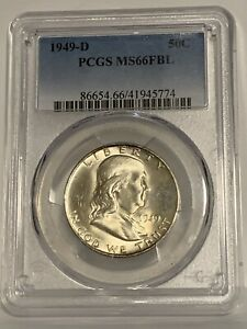 Click now to see the BUY IT NOW Price! 1949 D FRANKLIN HALF DOLLAR PCGS MS66 FBL
