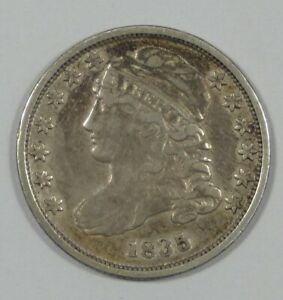1835 CAPPED BUST SILVER DIME FINE SILVER 10C