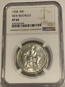 Click now to see the BUY IT NOW Price! 1938 NEW ROCHELLE 50C SP66 NGC