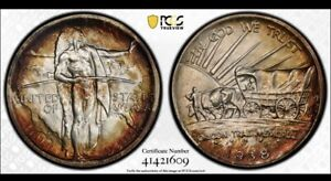 Click now to see the BUY IT NOW Price! 1938 OREGON HALF DOLLAR PCGS MS68 TONED