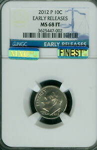 Click now to see the BUY IT NOW Price! 2012 P ROOSEVELT DIME NGC MS68 FT ER PQ MAC FINEST MAC SPOTLESS POP 3 .